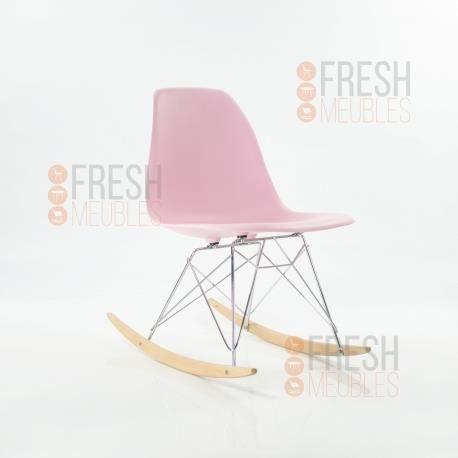 Chaise À Bascule Inspiration Eames Rsr (Rose) - Achat / Vente