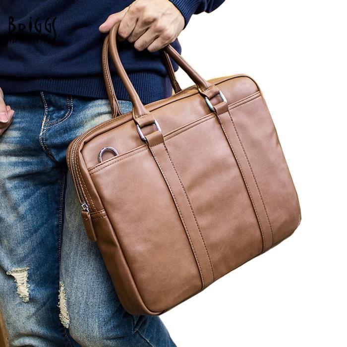 sac à main Designer Marque de Split Sac en cuir Porte-documents pour hommes daffaires de sac dordinateur portable de haute -1147