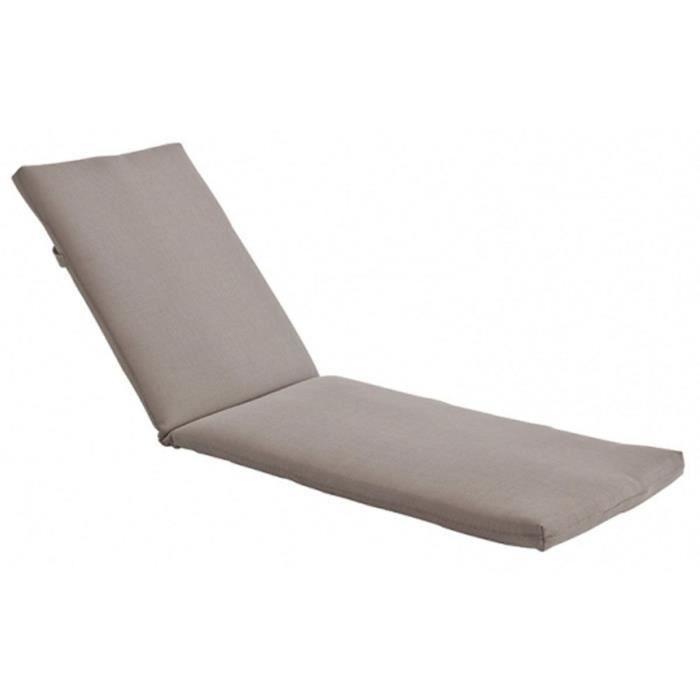 great coussin pour bain de soleil en bois exotique gri. Black Bedroom Furniture Sets. Home Design Ideas
