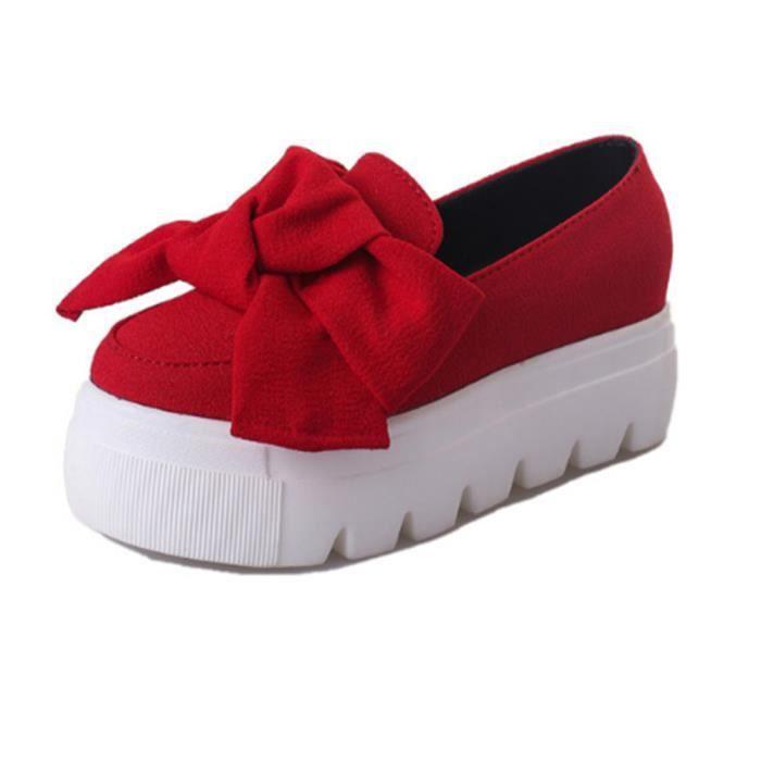 Moccasin femmes Marque De Luxe Qualité Supérieure ete Loafer Confortable Durable Chaussures de plate-forme Plus Taille 35 zckpCvl