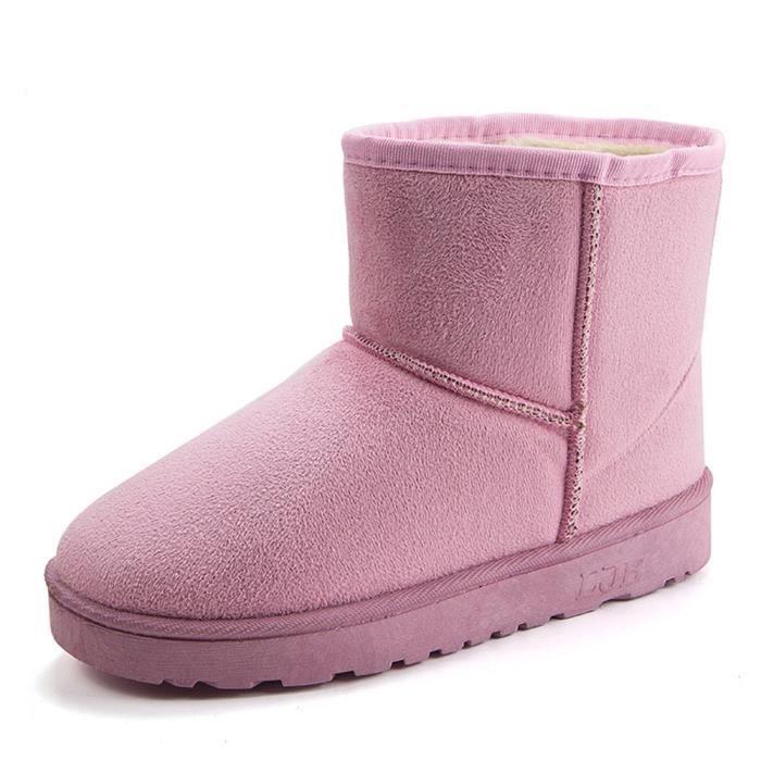 Femme Chaussure Confortable Bottes De Neige Beau Mode Hiver Garde Au Chaud Doux Coton Botte Plus De Cachemire Antidérapant 36-40