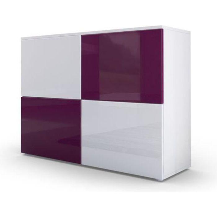 chambre prune et blanc excellent lola armoire portes