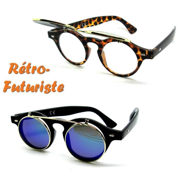 f14c7c90268 LUNETTES SOLEIL STEAMPUNK RABATTABLE TORTOISE OR Or
