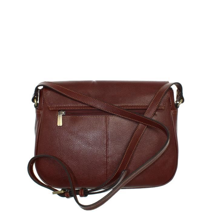 Hexagona Sac porté travers en cuir Marron g9DmY5VM3