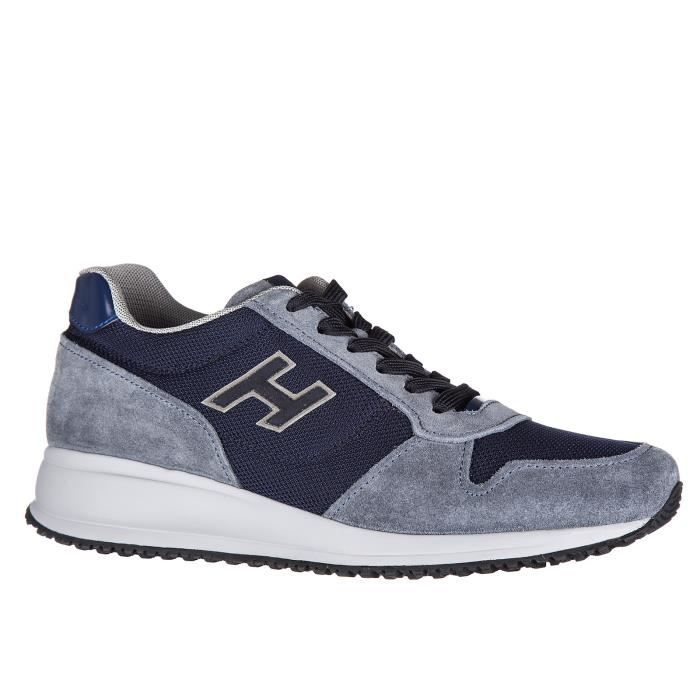 Chaussures baskets sneakers homme en daim interactive n20 h Hogan
