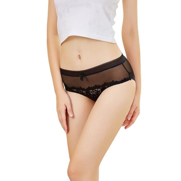En Noir vêtements Dentelle Sexy Culottes Pantalons Sans Lure 5857 Sous Couture Transparent Femmes qxSB1fZU