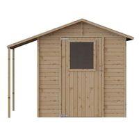 Abri de jardin bois + abri bûches  - FSC - 4.21m²- 235x164xh200cm