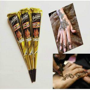 TATOO - BIJOU DE CORPS 3 pièces Tatouage temporaire au Henné Noir