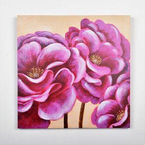 TABLEAU - TOILE Tableau déco Fleurs  37 -  Toile peinte à la main