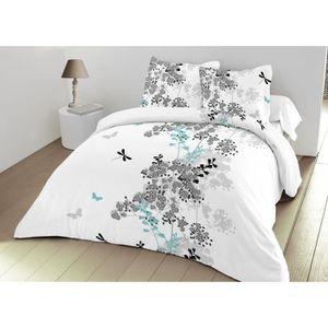 parure drap 4 pieces 240 300 achat vente pas cher. Black Bedroom Furniture Sets. Home Design Ideas