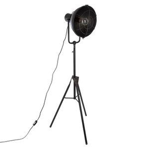 LAMPADAIRE Lampadaire en métal trépied H150 Autres Noir