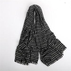 44590e426974 ECHARPE - FOULARD écharpe en cachemire petit foulard noir hommes et