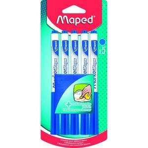 FLOCON DE MAÏS MAPED - 5 Feutres effacables à sec - Bleues - Avec
