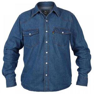CHEMISE - CHEMISETTE Duke Rockford chemise jean denim taille grande d h 21f65a174ad3
