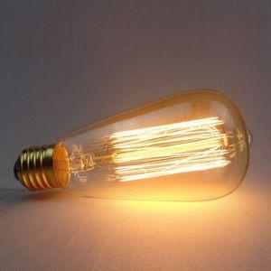 AMPOULE - LED Style Edison LED Ampoule A Filament 220V 60W ST64