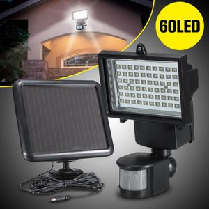 APPLIQUE EXTÉRIEURE 60 LED Solaire Appliqe Lampe Détecteur Mouvement P