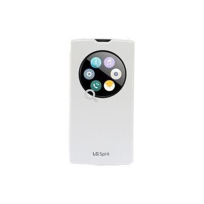 LG Etui à rabat à zone transparente pour Lg Spirit - Blanc
