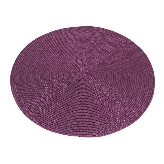 set de table polypropylene set de table rond galaxie coloris aubergine achat
