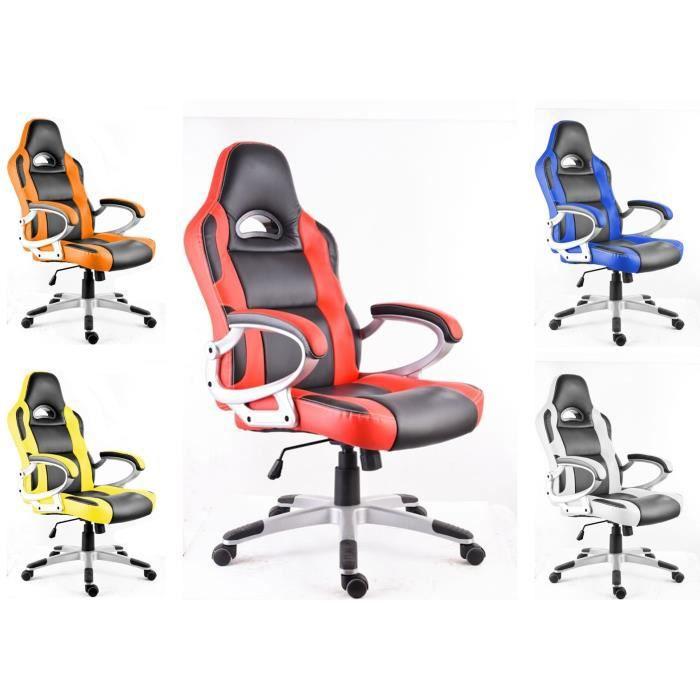 polironeshop monza chaise de bureau fauteuil si ge pour ordinateur racing gamer sport gaming. Black Bedroom Furniture Sets. Home Design Ideas