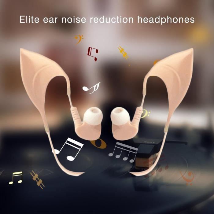 Écouteur Mignon De Forme Elfe Réduction Bruit Intra-oreilles Avec Fil