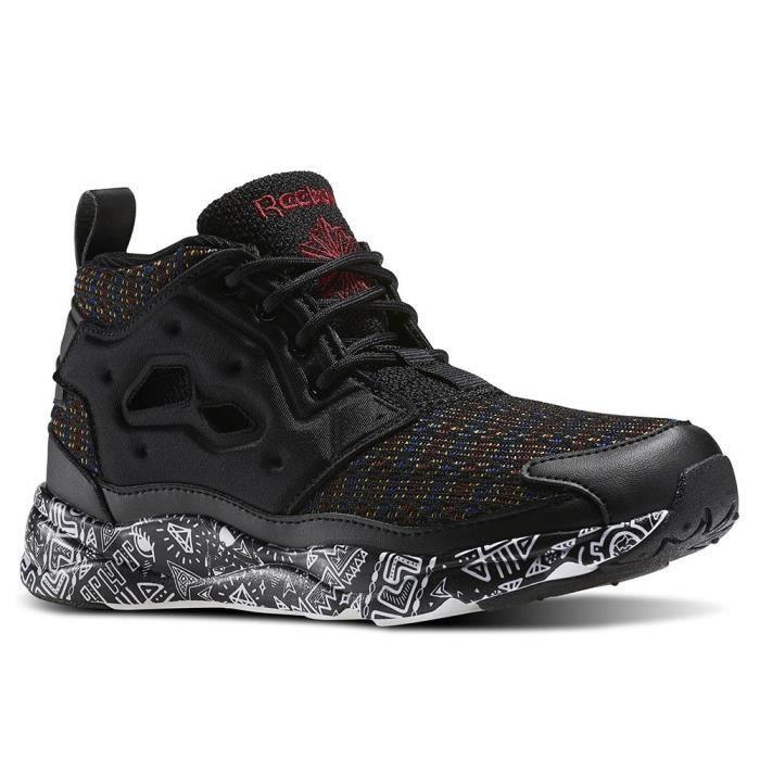 Chaussures Reebok Furylite Chukka Afr Blackwhtmerlotgrn