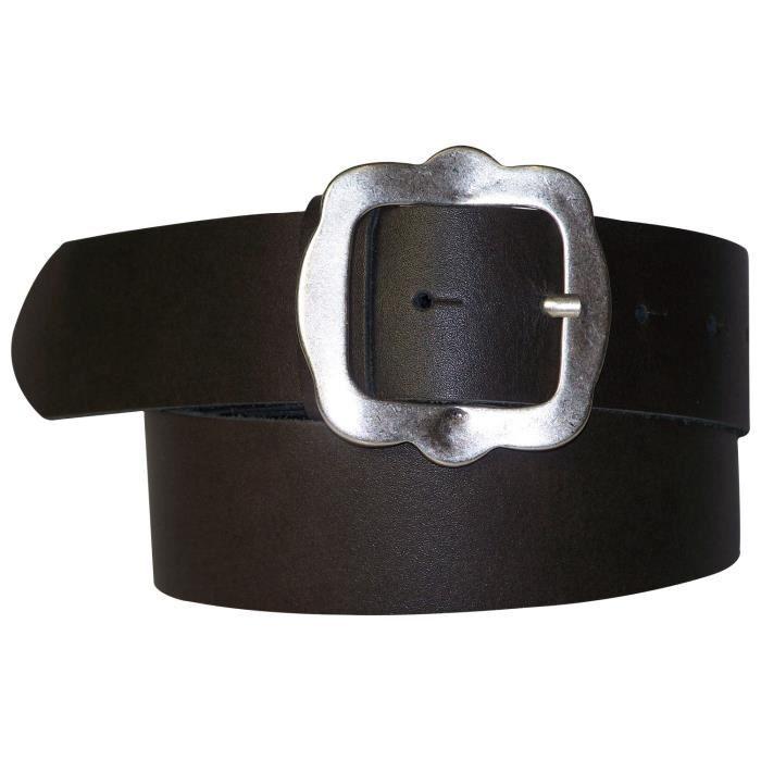 Ceinture de costume traditionnel bavarois pour femme et homme en cuir  véritable marron foncé, boucle de ceinture pour 90745dbf987