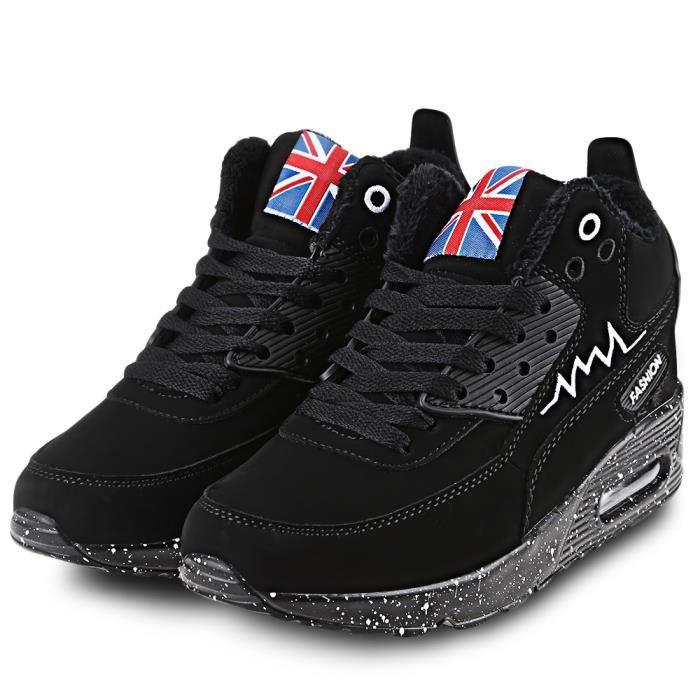 élégant hauteur Couleur l'intérieur bloc chaud croissante sport Chaussures Mesdames de à fwnFZ7Rn