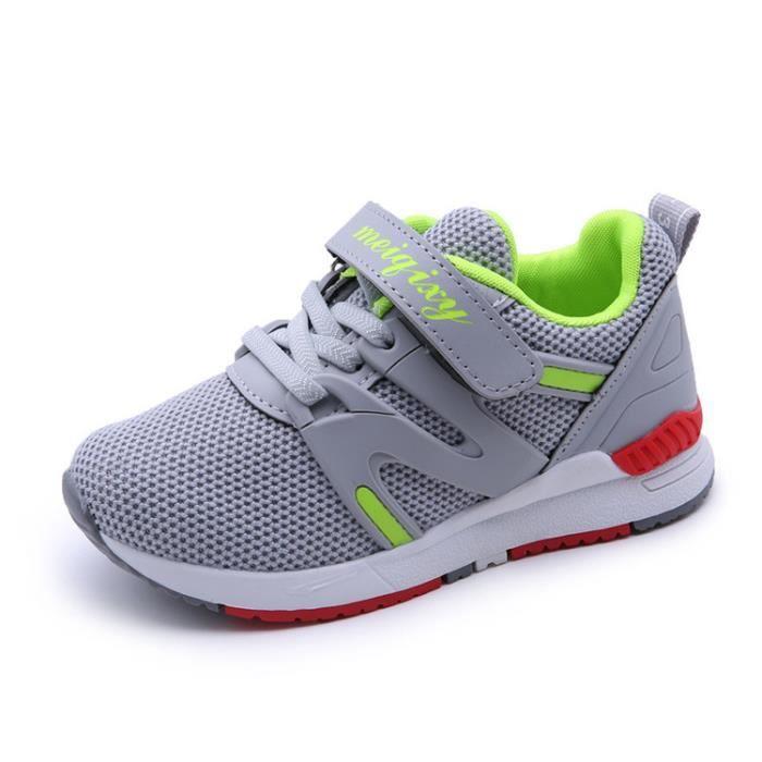 2017 automne nouvelles chaussures de sport pour enfants garçon chaussures de course respirantes filles net visage chaussures décontr
