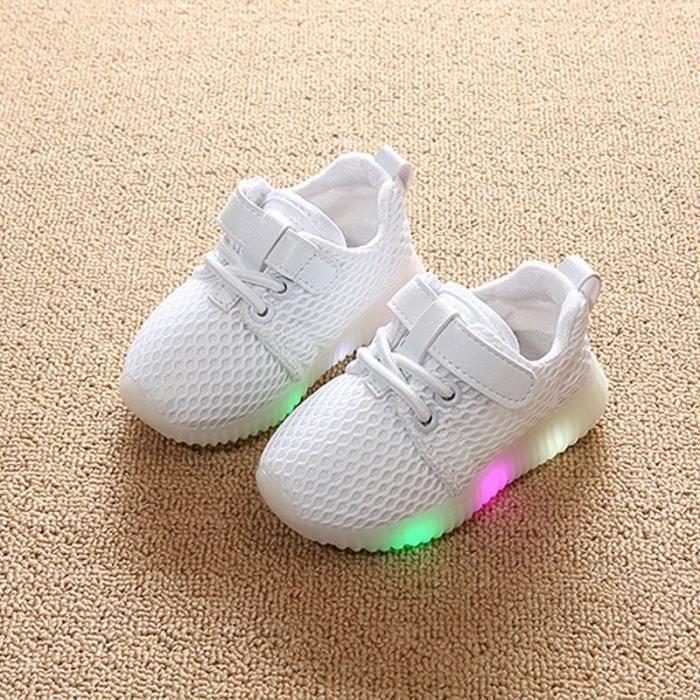 Baskets Enfants chaussures Garçons filles Bébé LED lumières Chaussures de sport Vjapc
