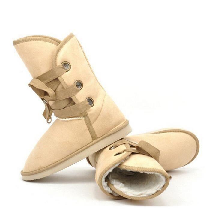 Chaussure Femme Marque De Luxe Hiver Qualité Supérieure Bottines De Plus Bottine femmes Grande TailleNouvelle arrivee