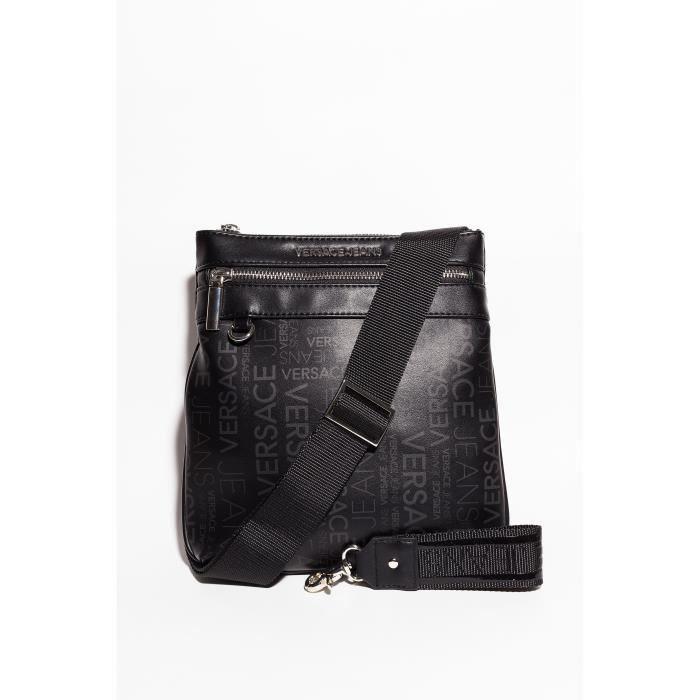 fc571c41ec0 Versace Jeans - Sacoche Homme Noir Noir Noir (BLACK) - Achat   Vente sacoche  2009364312154 - French Days dès le 26 avril ! Cdiscount