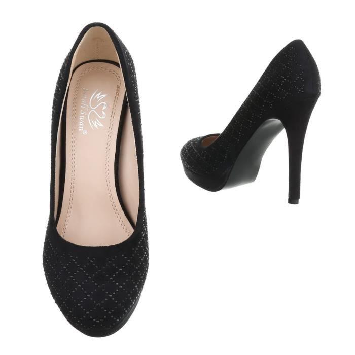 Femme chaussures escarpin Strass occupé High Heels noir 40