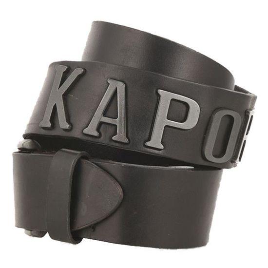 a516dac5a0a KAPORAL Ezel Ceinture Homme - Taille 105 - NOIR Noir Noir - Achat   Vente  ceinture et boucle - Cdiscount