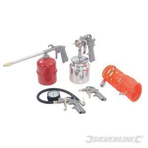 SILVERLINE Coffret 5 accessoires pneumatiques pour compresseurs