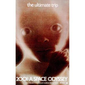 AFFICHE - POSTER Affiche de cinéma l'Odyssée de l'espace 2001 (Dime