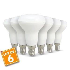 AMPOULE - LED Lot de 6 ampoules LED E14 R50 6W 510Lm (Blanc chau