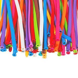 BALLON DÉCORATIF  100pcs latex coloré Twisting ballons longs ballons