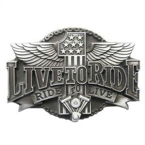 CEINTURE ET BOUCLE boucle de ceinture live to ride 1 aillé alu biker d64f1d08885