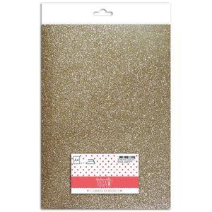 TISSU MLLE TOGA Tissu glitter thermocollant - A4 - champ