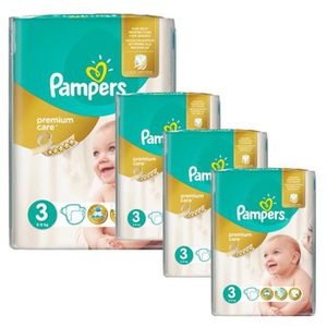 COUCHE Maxi Giga Pack 240 Couches Pampers Premium Care -