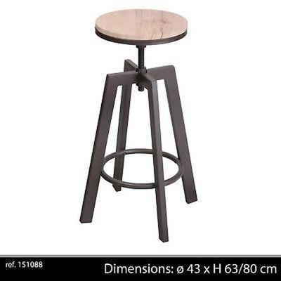 Tabouret Industriel Hauteuur Bar Réglable De Bois En Loft Design Chaise Contemporain Metal Ajustable cl13TK5uFJ