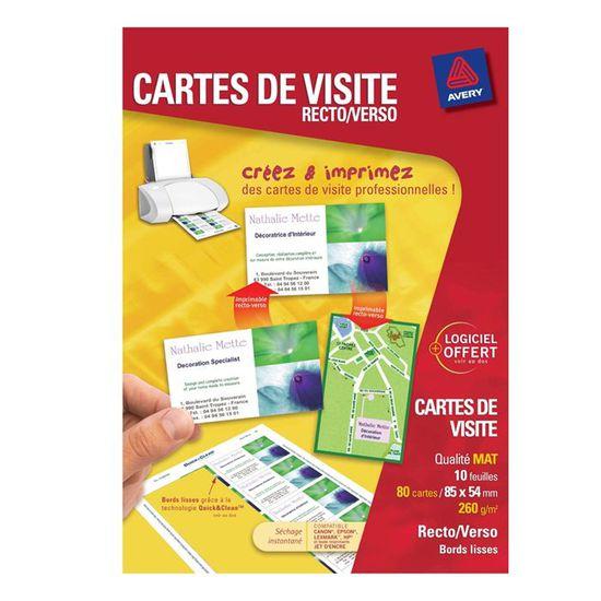 CARTE DE VISITE Avery Cartes De Visite 85x54mm
