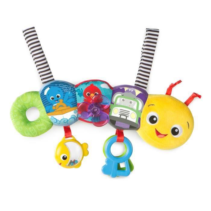 BABY EINSTEIN Chenille peluche interactive Travel-pillar Discovery Toy Bar - Multicolore