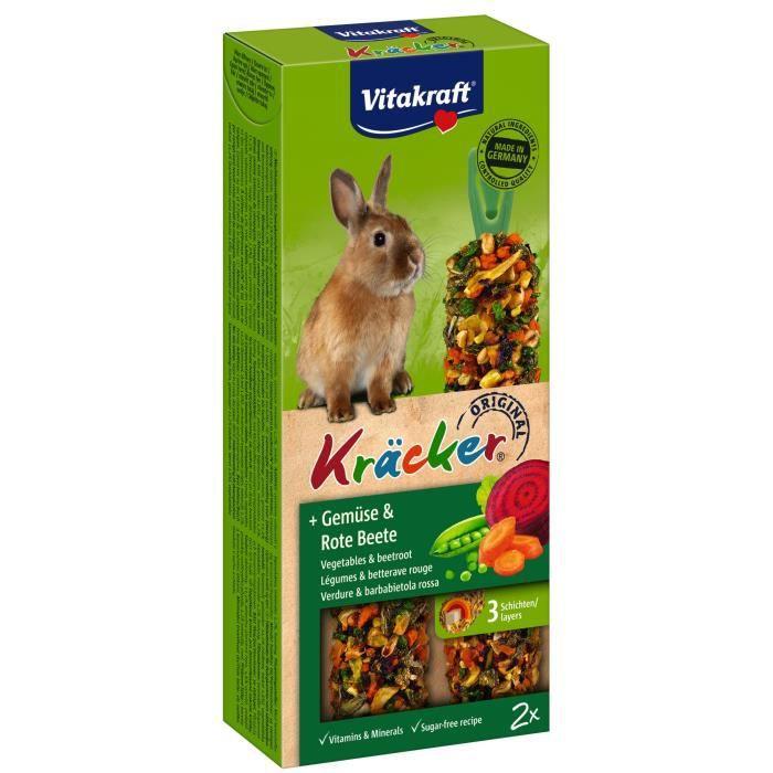 VITAKRAFT Kräcker Légumes et betterave rouge P/2 - Pour lapin nain