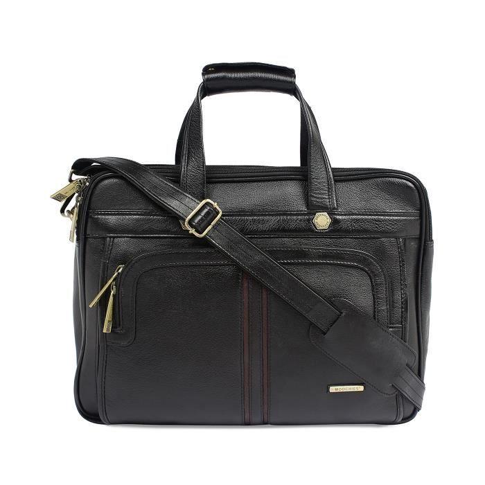 Bureau en cuir pur hommes cum Laptop Bag - A Marque En Inde Exquiste Designer Produit MCB2J