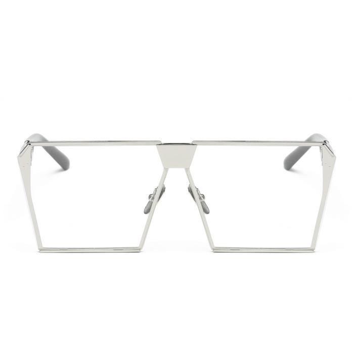 Femmes hommes Vintage rétro lunettes de mode unisexe aviateur miroir voyage lunettes de soleil Plaine cadre argent