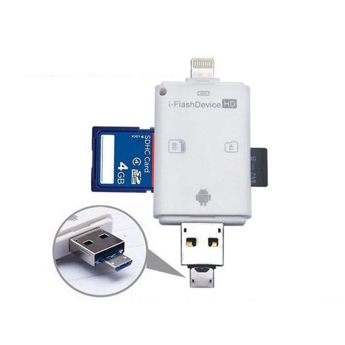 Cdiscount Lecteur Carte Sd.3en1 Iflash Lecteur Carte Usb Micro Sd Sdhc Tf Pour Iphone 5 5s 6 6 Plus Ipad Itouch Smartphone