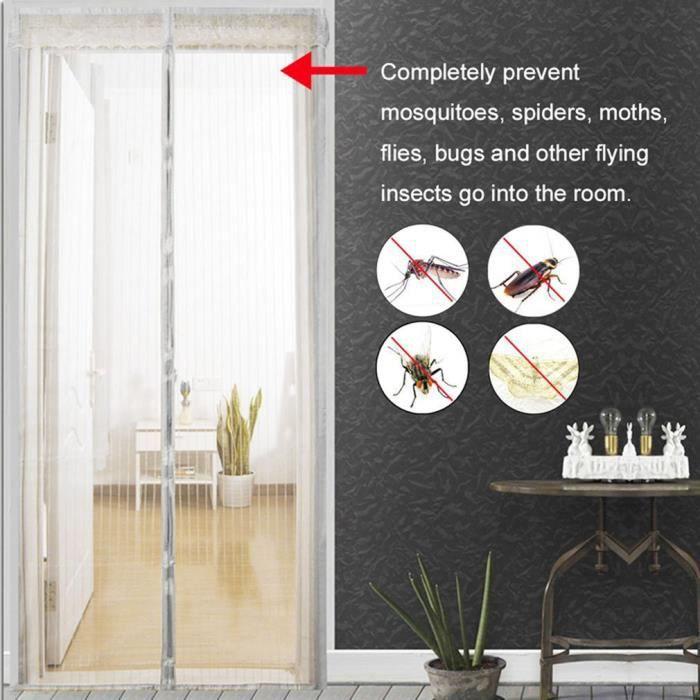 6144f8bf4a3e5 MOUSTIQUAIRE OUVERTURE Diviseur Anti bug moustique rideau, le rideau de l