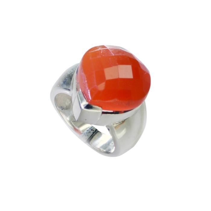 anneau rouge onyx - anneau rouge - bague en argent - bague en argent rouge