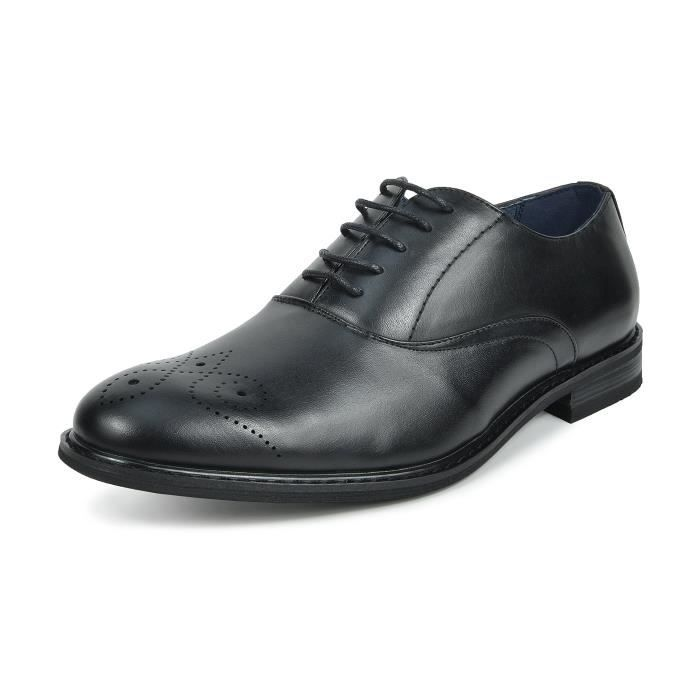 Bruno Marc-Prince Robe en cuir doublé Oxfords Chaussures RZ8XQ Taille-43